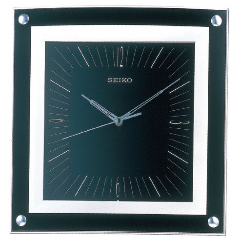 Seiko Wall Clock Quiet Sweep Second Hand Clock Black